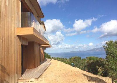 Maison Coti (2A) - Vue sur mer côté chambres