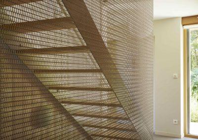 Création d'un garde-corps escalier / Mailles métalliques inox