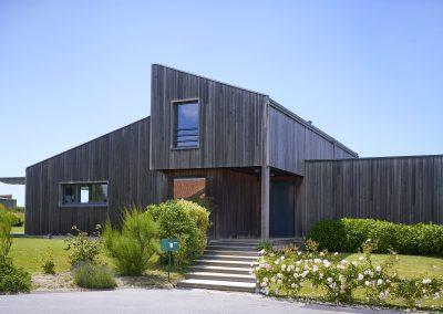 Maison bois - Côté entrée