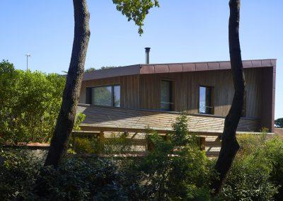Maison bois & zinc - Façade Sud