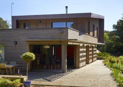 Maison bois & zinc - Côté jardin