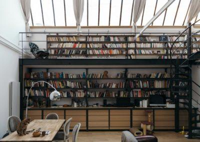 LOFT MONTREUIL bibliothèque 2